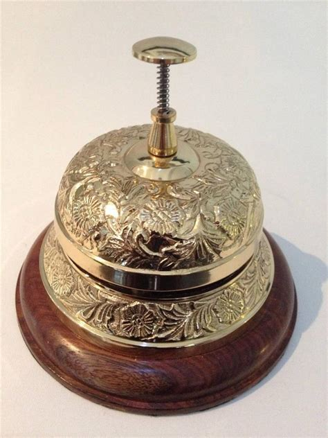 Reception Desk Bell Large Quality Reception Counter Desk Restaurant Service Bell Chrome Brass Hotel