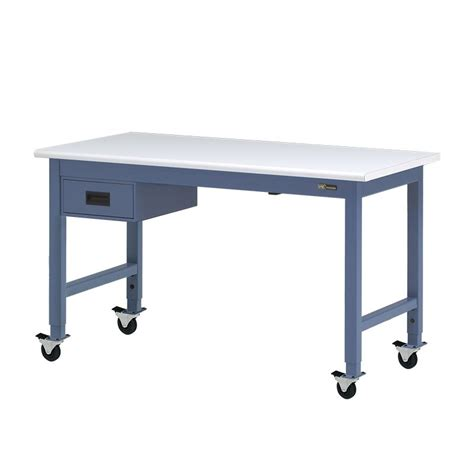 rolling bench iac mobile rolling steel workbench w 6 quot drawer equipmax