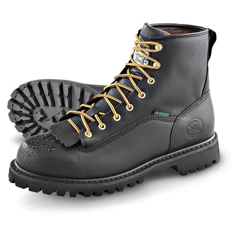 vibram mens boots s boot 174 vibram 174 loggers black 154784 work