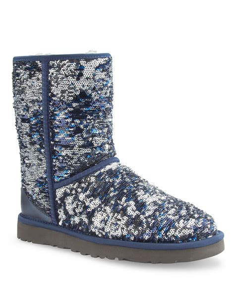 sequin boots ugg australia classic sequin embellished boots in blue