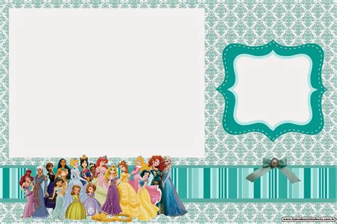 disney photo card templates all disney princess free printable invitations oh my
