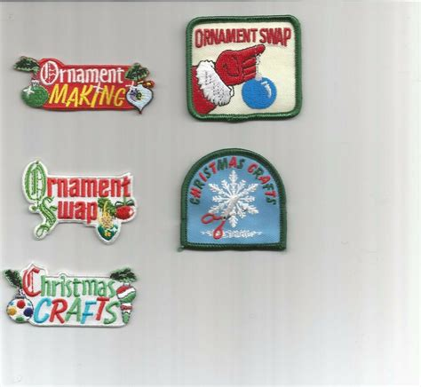 girl scout holiday ornaments craft boy scout guides patch crest badge crafts ornaments your choice ebay