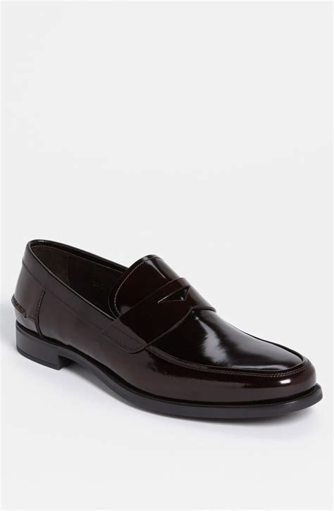 prada loafers prada loafer in brown for bruciato lyst