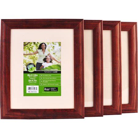 10 x 7 matted frame 8 quot x 10 quot wood frame matted to 5 quot x 7 quot set of 4