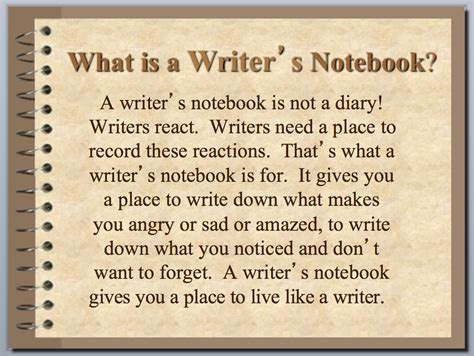 it s here the idea factory a writer s path ppt teach students about writer s notebook