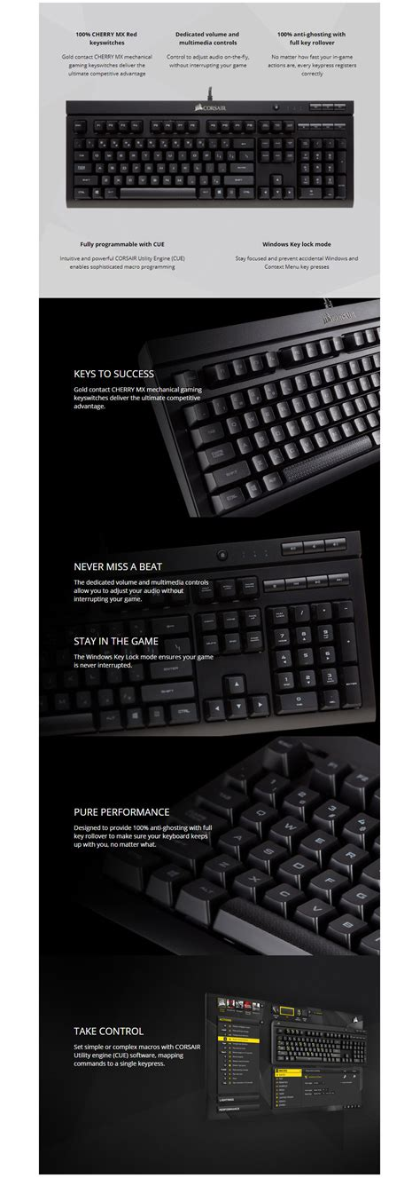 Corsair K66 Mechanical Gaming Keyboard Cherry Mx buy corsair s k66 mechanical gaming keyboard cherry mx on jw jw computers