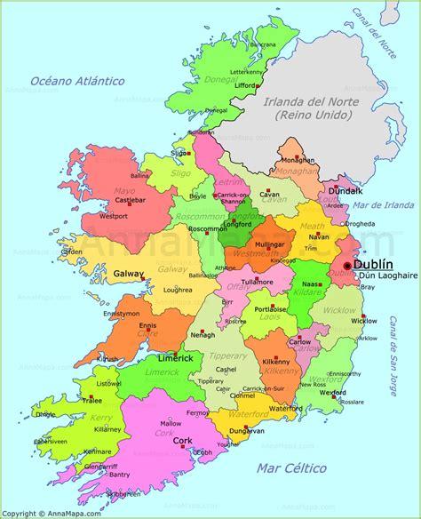 in irlanda mapa de irlanda plano irlanda annamapa