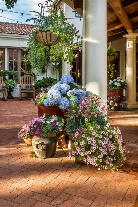 Decorating Patio With Potted Plants by Splendid Artificial Flower Arrangements For Home
