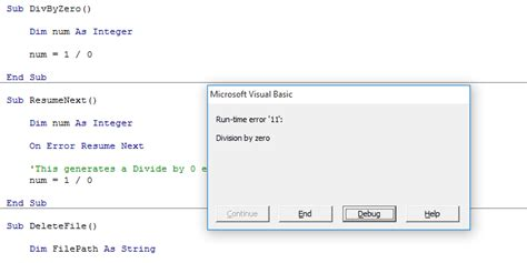 vba why do i get run time error 2147417848 80010108 error handling in vba my online training hub