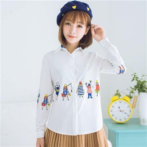 jual baju atasan kemeja hem blouse putih lengan panjang