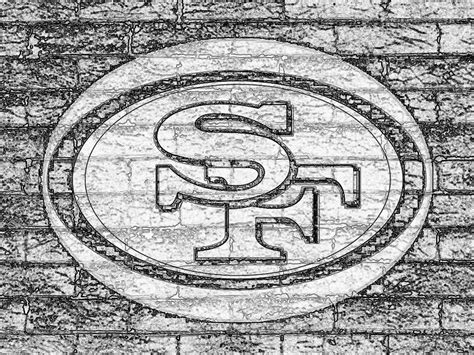 49ers Sketches by 49ers Logo Black And White Www Imgkid The Image