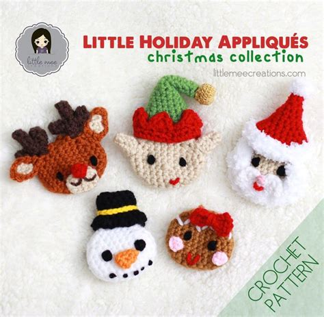 patterns for christmas appliques holiday appliques christmas crochet pattern by doriyumi
