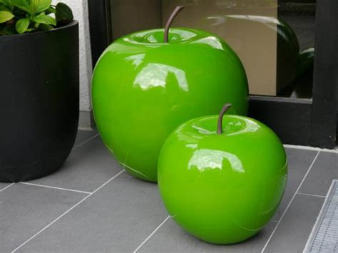 Garten Deko Apfel deko apfel aus fiberglas in gr 252 n bei east west trading