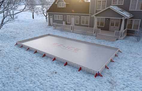 how to build backyard rink ez ice 60 minute backyard ice rink the green head