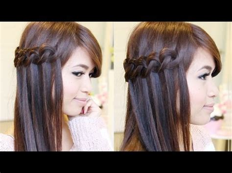 hairstyles download mp4 download knotted loop waterfall braid hairstyle hair