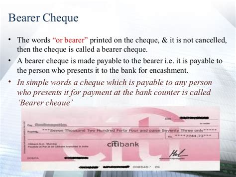 Meaning Of Drawer And Drawee Of Cheque by Cheque