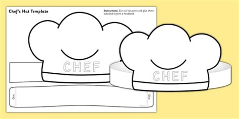 chef hat printable template chef hat template chef hat template play chef hat