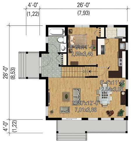 vacation house floor plan compact vacation house plan 80818pm architectural