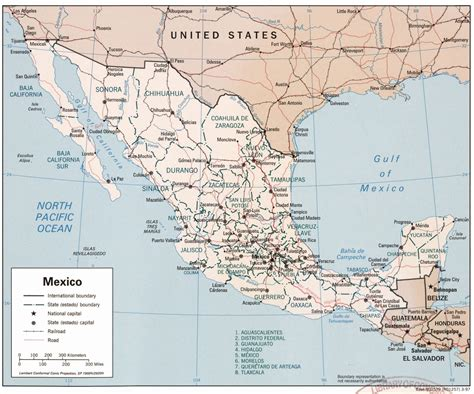 political map mexico mexican personnel