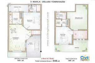 house layout 3 marla delux floorplan civil engineers pk