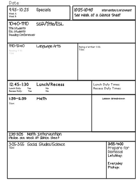 lesson planning sheet template guided writing lesson plan template search