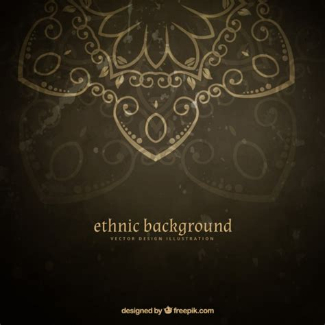 ethnic background ethnic floral background vector free
