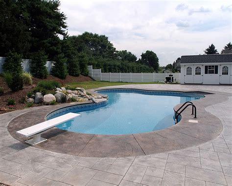 inground pool picture gallery vernon poolman