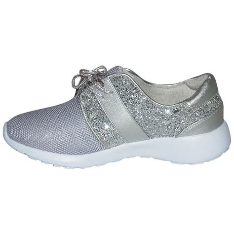 sequin shoes womens sequin sports sparkle running sneakers