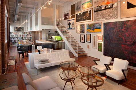 awesome Wall Collage Ideas Living Room #3: industrial-living-room.jpg