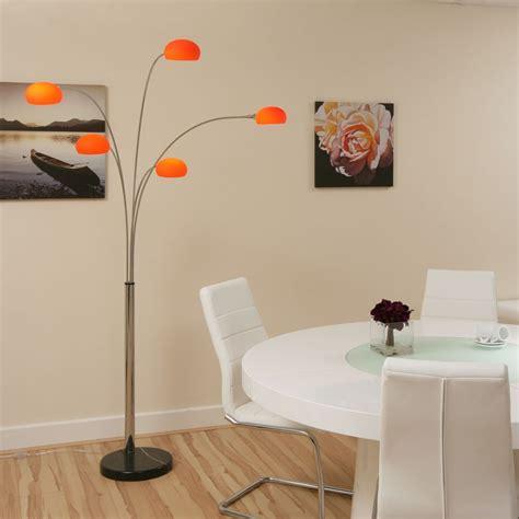 standard l shades modern modern floor standard l light lighting orange glass