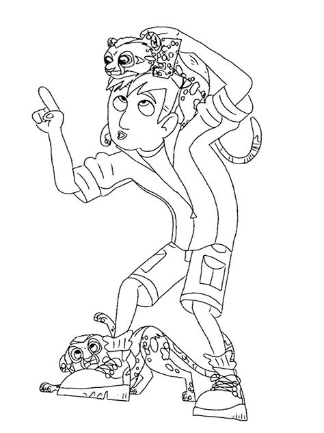 coloring pages of wild kratts wild kratts coloring pages download and print for free