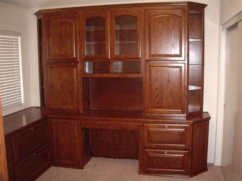 Semi Custom Bookcases Built In Oak Desk With Locking File Cabinets Cabinet