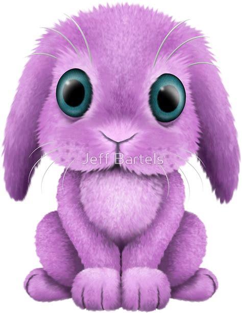 quot purple baby bunny rabbit quot stickers by jeff bartels