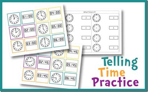 printable clock matching game free telling time practice cards royal baloo