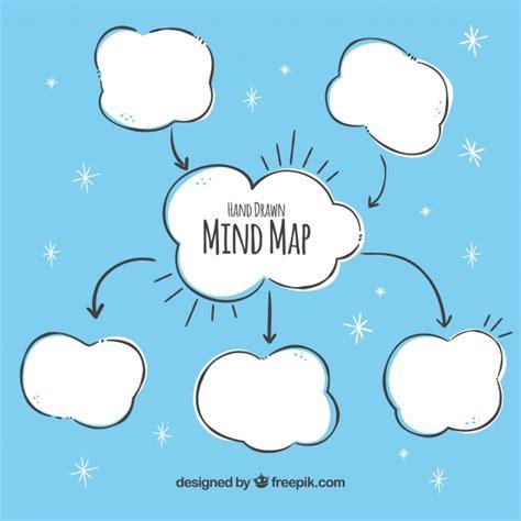 imagenes de mapas mentales animados mapa conceptual a mano con nubes descargar vectores gratis