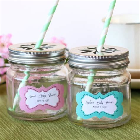 Jars For Baby Shower by Personalized Baby Shower Mini Jars