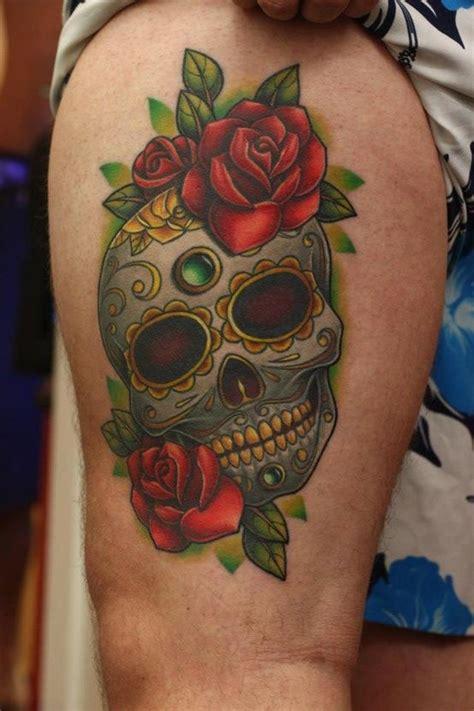 tattoo skull and roses meaning sugar skull tattoo meaning sugar skull com rosas
