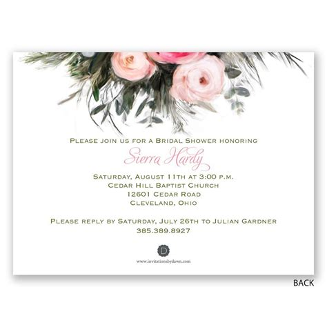 Shower Invitations by Ethereal Garden Bridal Shower Invitation