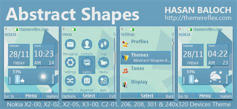 live themes nokia 301 abstract shapes live theme for nokia x2 00 x2 02 x2 05