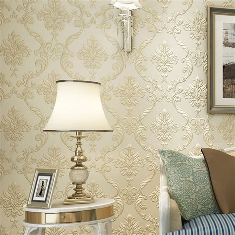European Inspired Home Decor Modern Simple Home Decor European Style Damask Wallpaper Roll For Wall Bedroom Living Room High