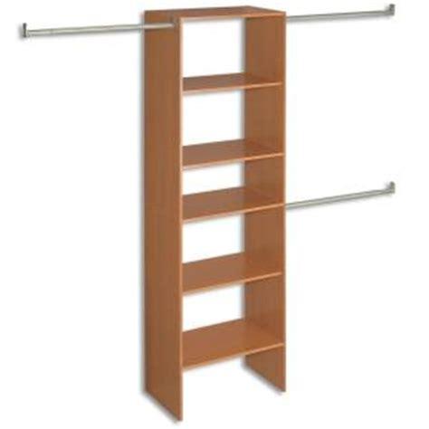 closet organizer at home depot closetmaid selectives 82 1 2 in cherry closet organizer