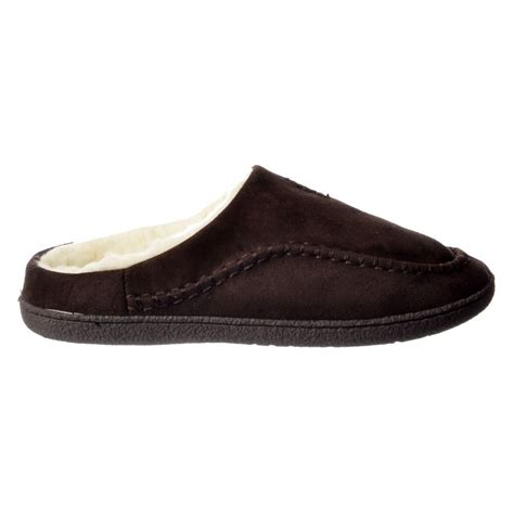 slip on slippers for shoekandi mens luxury fur lined slip on mule slippers with