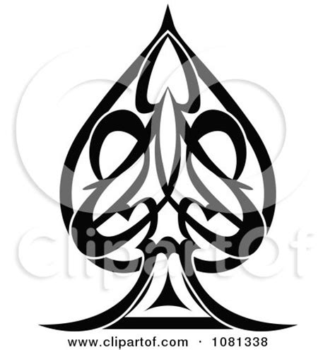 tribal spade tattoos royalty free rf clipart of designs illustrations