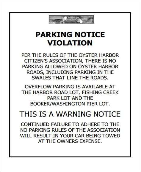 Parking Warning Notice Template 35 Notice Templates In Pdf Free Premium Templates