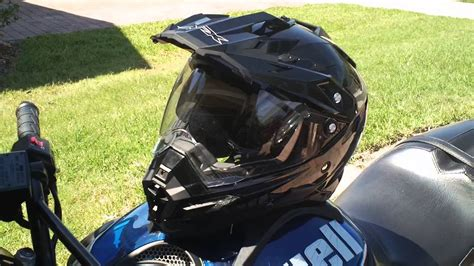 AFX FX 41 Dual Sport Motorcycle Helmet Review   YouTube