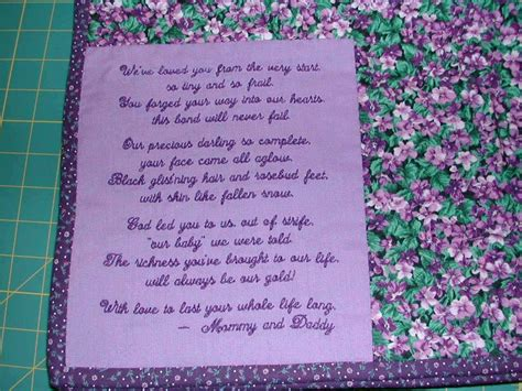 Baby Quilt Poem by 10 Images About Quilt Poems On Custom