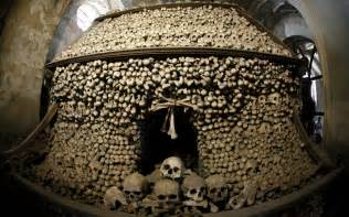 Chandelier Made Of Human Bones Sedlec Ossuary Czech Republic Photo Gallery Rough Guides