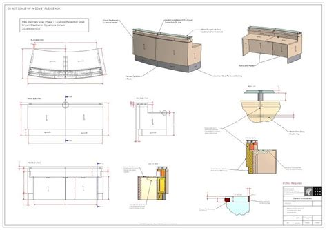 reception desk designs drawings furniture construction drawings images architectural