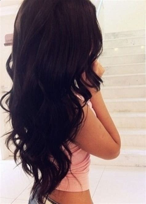 long hairstyles from behind gorgeous perfect loose curls on long dark hair perfection