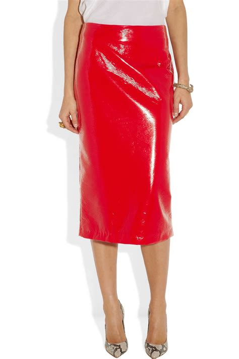 s must leather pencil skirt by miu miu 2018